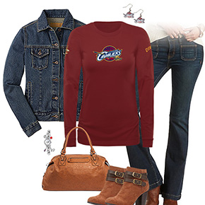 Cleveland Cavaliers Flare Jeans Outfit