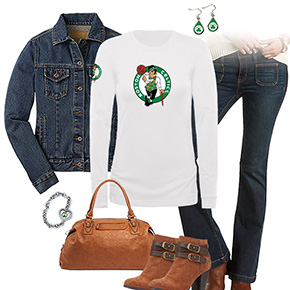 Boston Celtics Flare Jeans Outfit