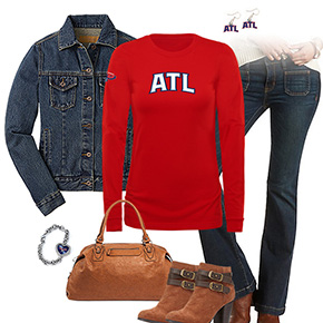 Atlanta Hawks Flare Jeans Outfit