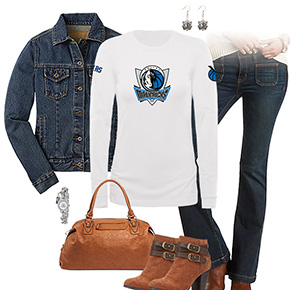 Dallas Mavericks Flare Jeans Outfit