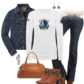 Dallas Mavericks Flare Jeans Outfit