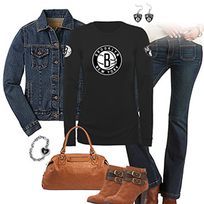 Brooklyn Nets Flare Jeans Outfit