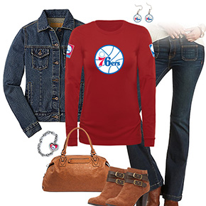 Philadelphia 76ers Flare Jeans Outfit