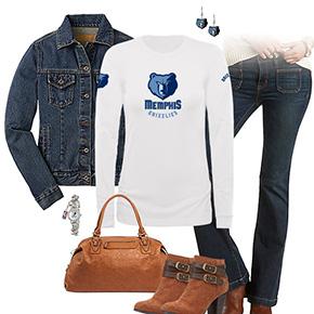 Memphis Grizzlies Flare Jeans Outfit
