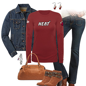 Miami Heat Flare Jeans Outfit