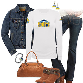Denver Nuggets Flare Jeans Outfit