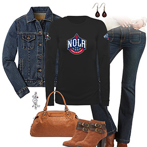 New Orleans Pelicans Flare Jeans Outfit