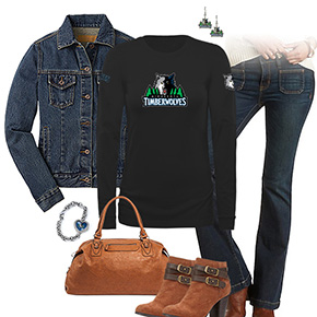 Minnesota Timberwolves Flare Jeans Outfit