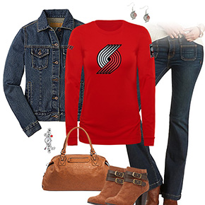 Portland Trail Blazers Flare Jeans Outfit