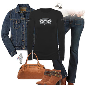 San Antonio Spurs Flare Jeans Outfit
