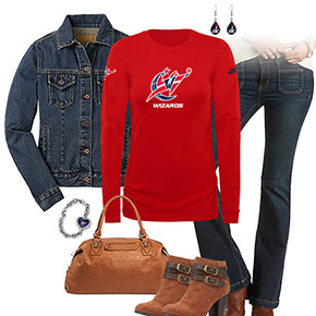 Washington Wizards Flare Jeans Outfit