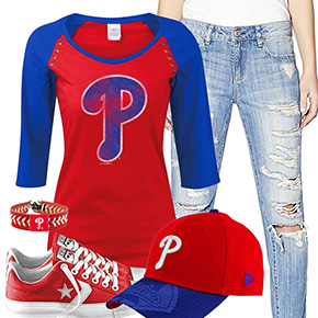 Philadelphia Phillies Cute Boyfriend Jeans Outfit