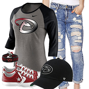 Arizona Diamondbacks Cute Boyfriend Jeans Outfit