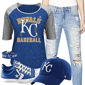 Kansas City Royals Cute Boyfriend Jeans Outfit