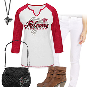 Cute Atlanta Falcons Kickoff Outfit