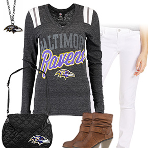 Cute Baltimore Ravens Kickoff Outfit