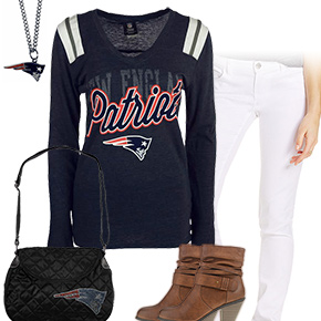 Cute New England Patriots Kickoff Outfit