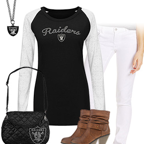 Cute Oakland Raiders Kickoff Outfit
