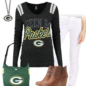 Cute Green Bay Packers Kickoff Outfit