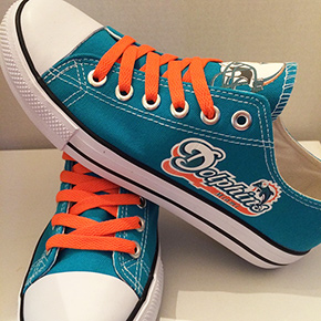 Miami Dolphins Converse Shoes