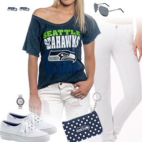 Seattle Seahawks Off The Shoulder Top