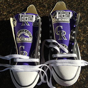Colorado Rockies Converse Sneakers