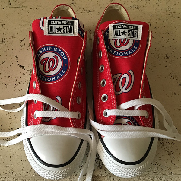 Washington Nationals Converse Sneakers