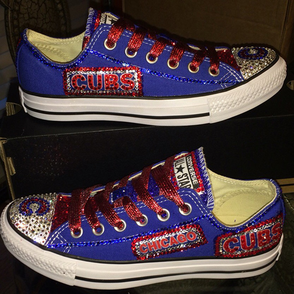 Chicago Cubs Handmade Converse, Chicago Cubs Converse Sneakers