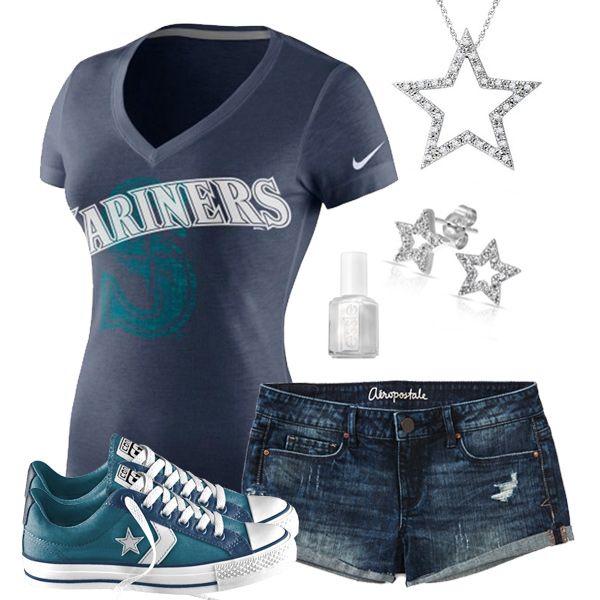 Seattle Mariners Outfit With Converse