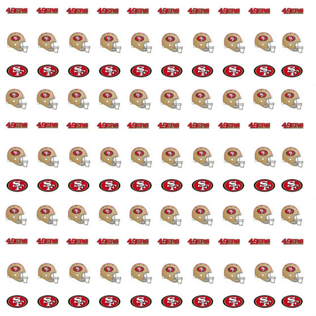 San Francisco 49ers Nail Stickers