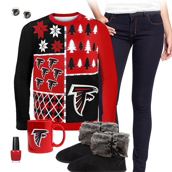 Atlanta Falcons Sweater Outfit