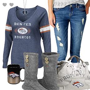 Cute Broncos Fan Outfit