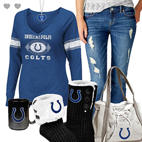 Cute Colts Fan Outfit