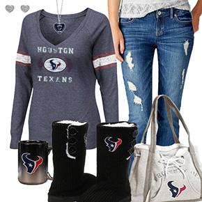 Cute Texans Fan Outfit