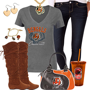 Cute Cincinnati Bengals Fan Outfit