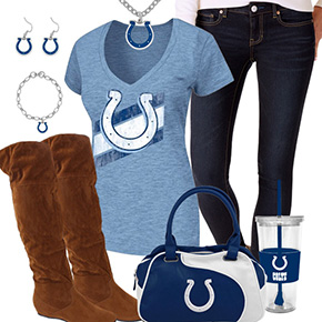 Cute Indianapolis Colts Fan Outfit