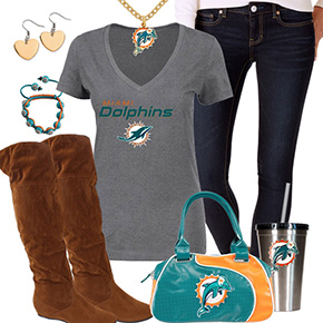 Cute Miami Dolphins Fan Outfit