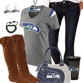 Cute Seattle Seahawks Fan Outfit