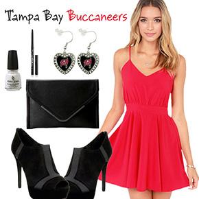 Tampa Bay Buccaneers Inspired Date Look