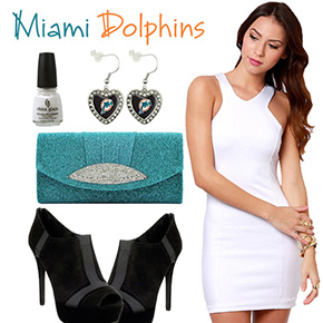 Miami Dolphins Inspired Date Look
