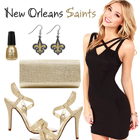 New Orleans Saints Inspired Date Look