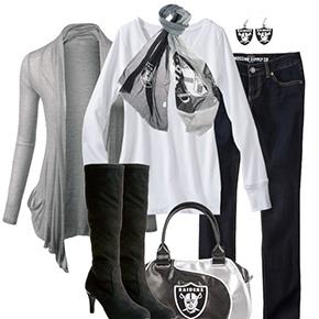 Oakland Raiders Inspired Fall Fashion