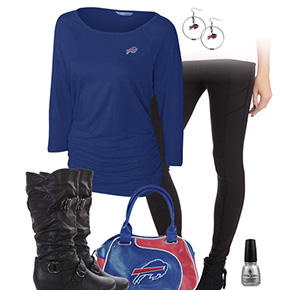 Buffalo Bills Inspired Leggings Outfit