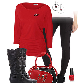 Tampa Bay Buccaneers Inspired Leggings Outfit