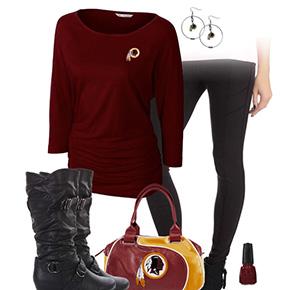 Washington Redskins Inspired Leggings Outfit