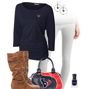 Houston Texans Inspired Leggings Outfit
