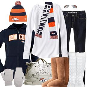 Denver Broncos Inspired Winter Fashion