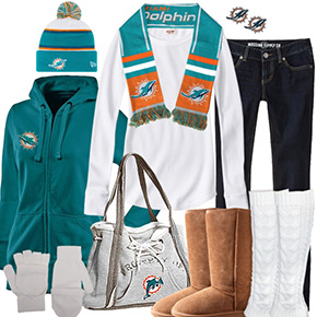 Miami Dolphins Inspired Winter Fashion
