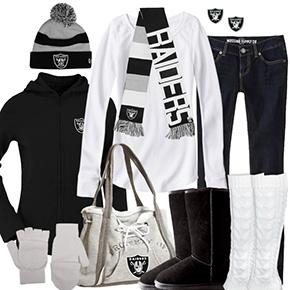 Oakland Raiders Inspired Winter Fashion