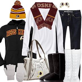 Washington Redskins Inspired Winter Fashion